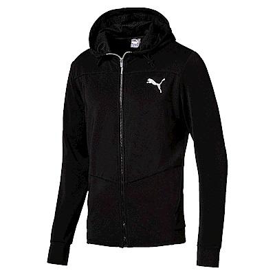 PUMA-男性基本系列彈性連帽外套-黑色-亞規