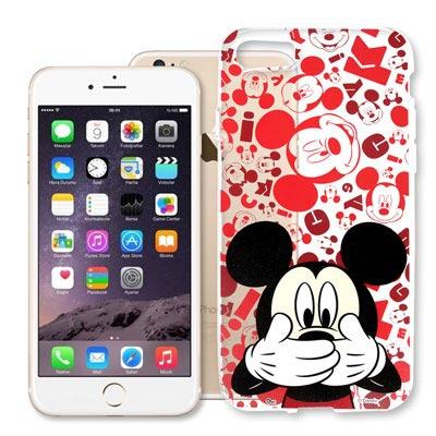 迪士尼 iPhone 8/iPhone 7 大頭透明軟性手機殼(摀嘴米奇)