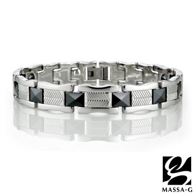 MASSA-G【深邃蘊藏】白鋼陶瓷手環-黑