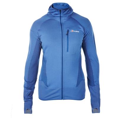 【Berghaus 貝豪斯】男款POLARTEC銀離子保暖連帽外套H22M36-藍