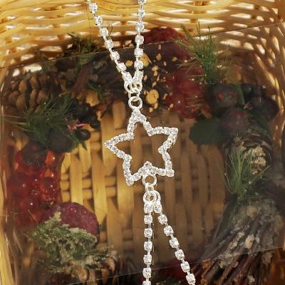I-shi 閃亮星星美背交叉奧地利水鑽肩帶