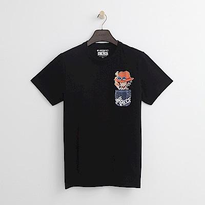 Hang Ten - 男裝 - ONE PIECE口袋印圖T恤-黑色