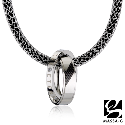 MASSA-G【黑色率性】搭配X1 4mm合金鍺鈦項鍊