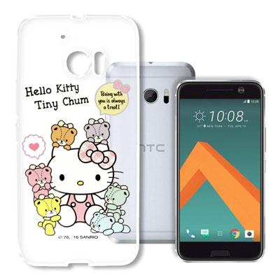 Hello Kitty HTC 10 / M10 浮雕彩繪透明軟殼(熊好朋友)