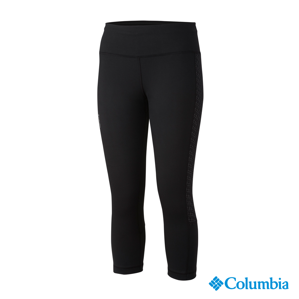 【美國Columbia哥倫比亞】快排七分褲-女-黑色(UAR16520BK)