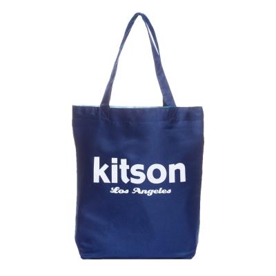 kitson 經典LOGO購物袋/托特包 深藍