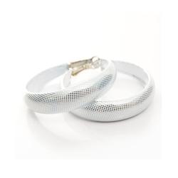 Aimee Toff 白色亮紋閃耀圈圈耳環