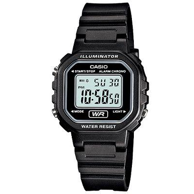 CASIO-黑色炫風方形電子錶-LA-20WH-1A-30-4mm