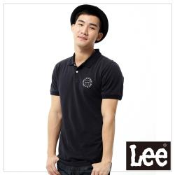 Lee 短袖POLO衫-男款- 黑色