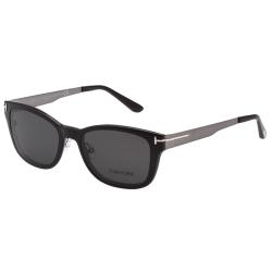 TOM FORD  前掛雙用 太陽+光學眼鏡-黑色+槍色-TOM5474