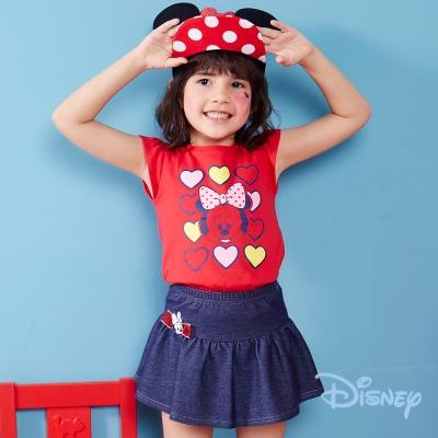 Disney 米妮俏皮A字小短裙 丈青