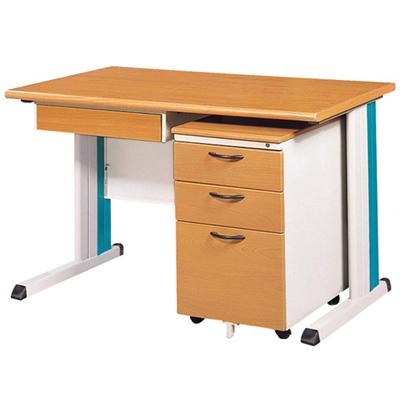 時尚屋木紋OA辦公桌櫃組(120x70)