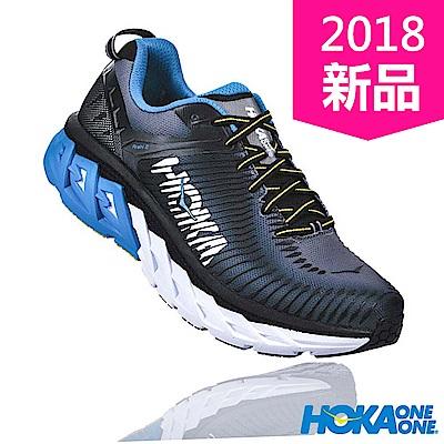 HOKA ONE ONE 男 ARAHI 2 WIDE 路跑鞋 黑/炭灰