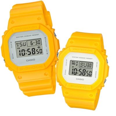 CASIO經典潮流簡單數位設計概念休閒錶(DW-5600CU-9+BGD-560CU-9)