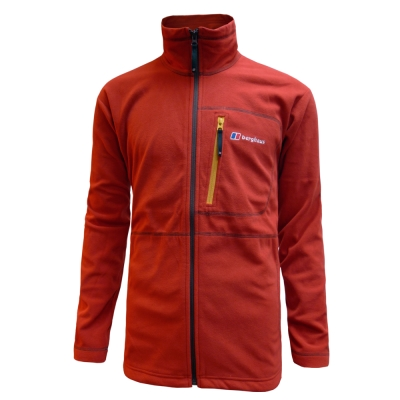【Berghaus 貝豪斯】男款刷毛保暖外套H22MM8-紅