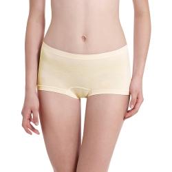 LADY 超彈力親膚無痕系列 中腰平口褲(黃色)