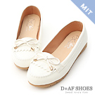 D+AF 自在漫步.MIT流蘇造型樂福健走鞋*白