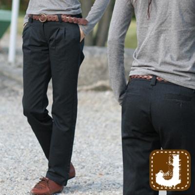 正韓 懷舊系西裝打折直筒褲-(棕色)100%Korea Jeans