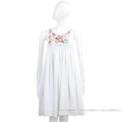 SEE BY CHLOE 白色多彩繡花無袖洋裝
