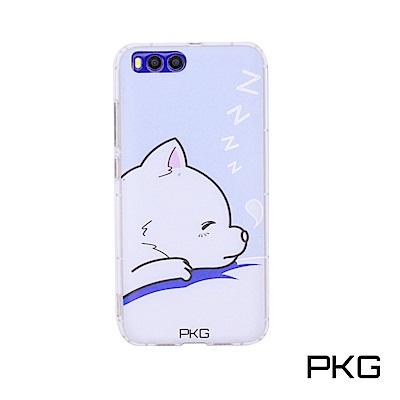 PKG 小米6 彩繪空壓氣囊保護殼-浮雕彩繪-呼呼狗