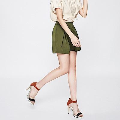SUITANGTANG 打褶前片造型短褲-共2色-軍綠