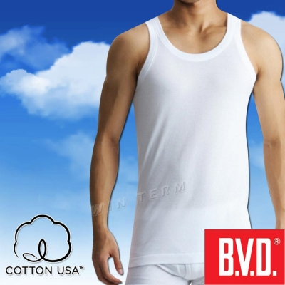 BVD 100%純棉優質背心-台灣製造(4入組)