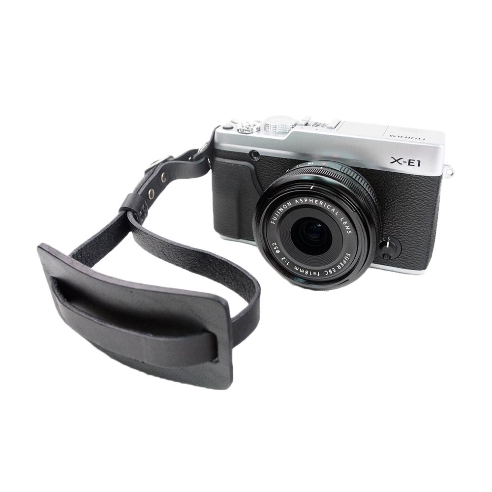 Cam in 真皮風格可調式相機手腕帶(共2色)-黑色