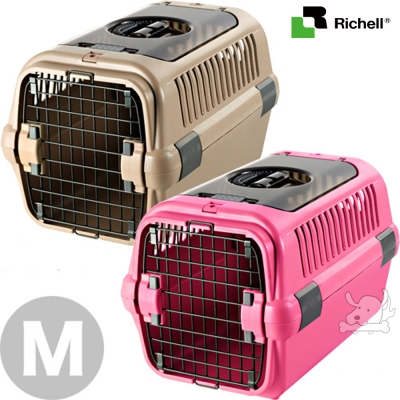 日本Richell 外出上掀時尚運輸提籠 小型犬用 M
