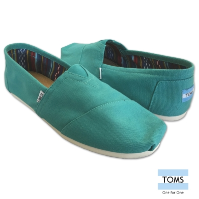 TOMS 經典帆布懶人鞋-男款(綠)
