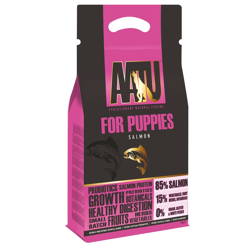 奧圖AATU超級8《皇室85%鮭魚》低敏無穀挑嘴幼犬糧1.5KG