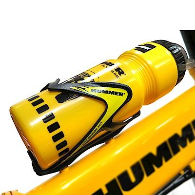 【HUMMER】悍馬原廠保冷運動型水壺+原廠環抱式水壺架(黃)