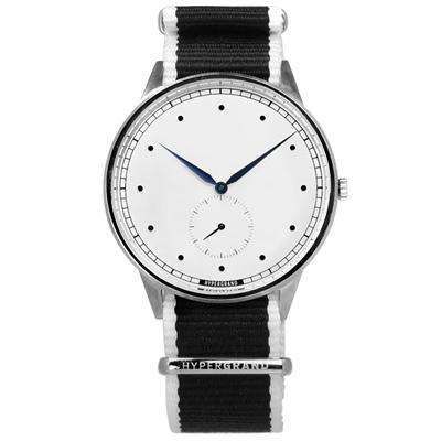 HyperGrand Straight Jacquard藝術印花尼龍手錶-白x黑/40mm