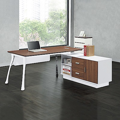 Bernice-斯丹納主管辦公桌組合(辦公桌+側邊櫃)-160x90x76cm