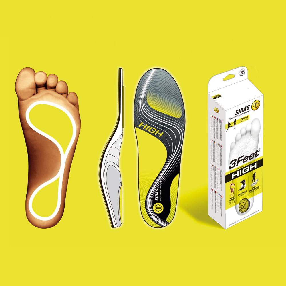 SIDAS 3feet 頂級運動鞋墊(舒適緩震、服貼支撐) - 高足弓適用