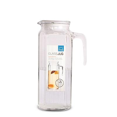 樂扣樂扣 玻璃方形冷水壺/把手/1.1L(快)