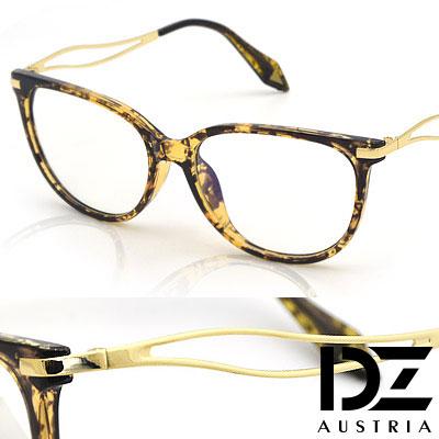DZ 獨具鏤葉線 防輻平光眼鏡(咖斑)
