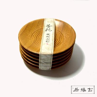 【古緣居】祥和竹製圓杯托