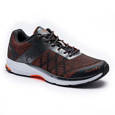 FILA 男款KT1專業慢跑訓練鞋-黑/橘 1-J027S-061