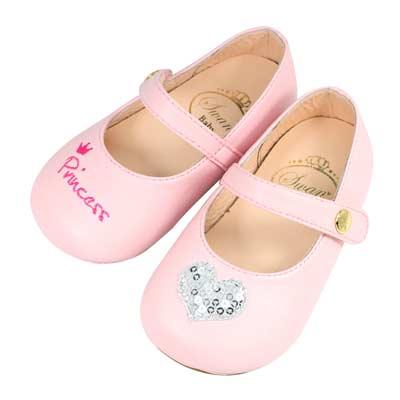 Swan天鵝童鞋-princess愛心寶寶學步鞋1517-粉