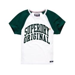 SUPERDRY 極度乾燥 短袖 文字T恤 白色