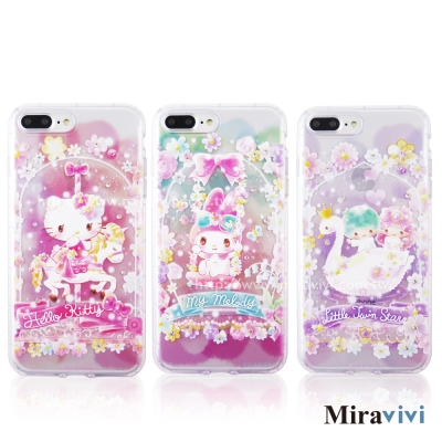 三麗鷗iPhone 8/7 Plus(5.5吋)繁花彩繪空壓手機殼