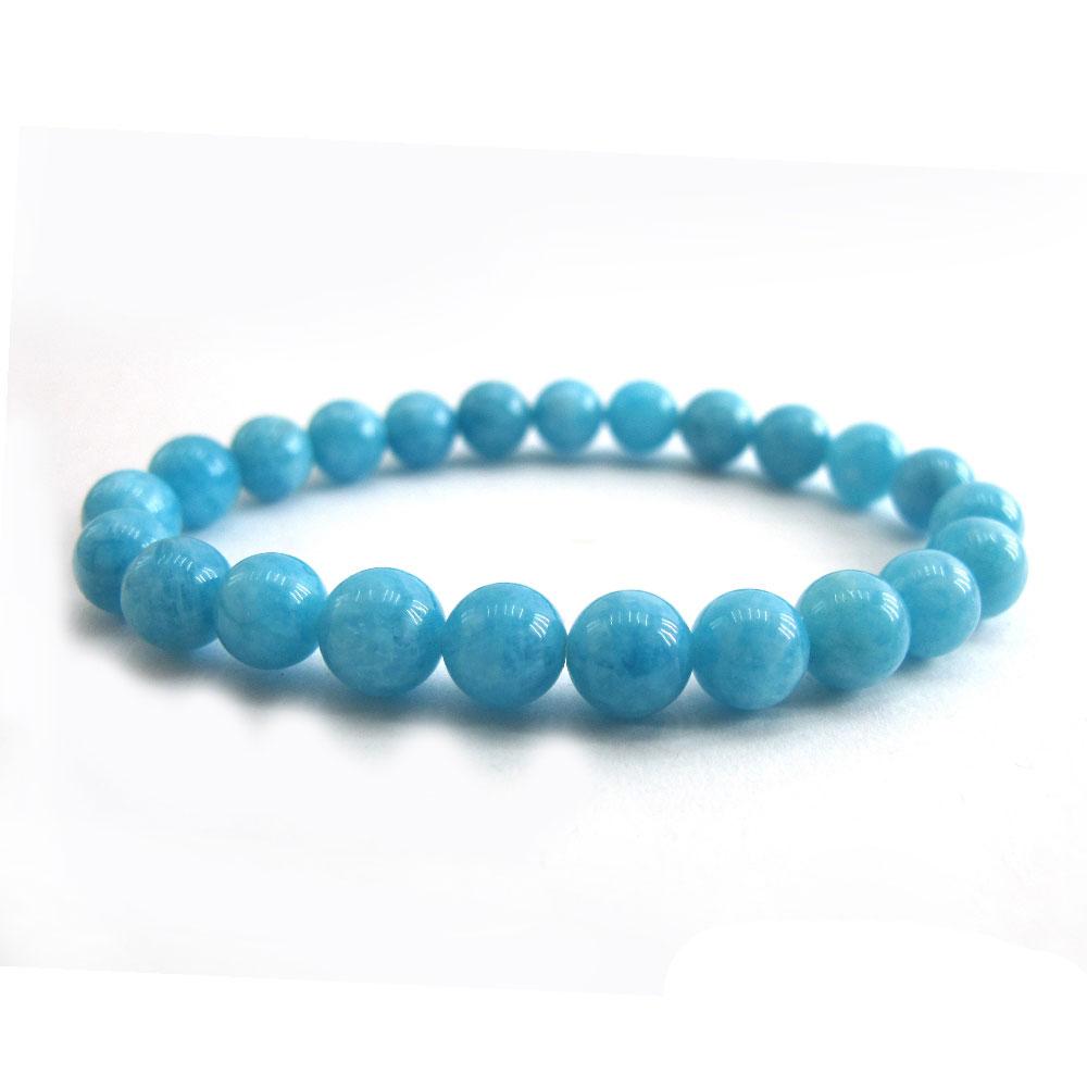 Hera頂級冰沁海水藍寶手珠(8mm)