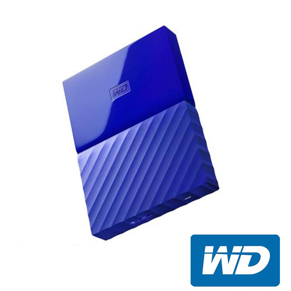 WD My Passport 4TB 2.5吋行動硬碟(WESN)-藍色系