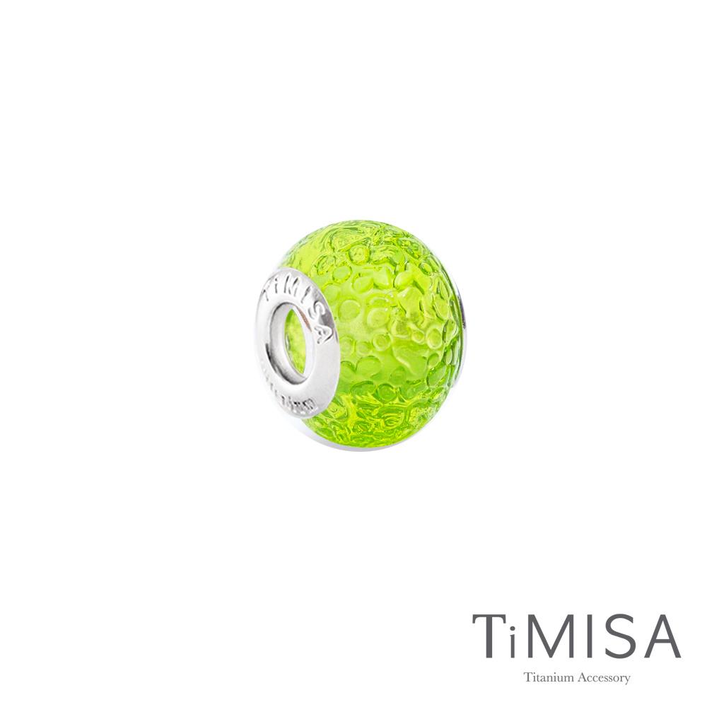 TiMISA 萊姆(11mm)純鈦琉璃 墜飾串珠
