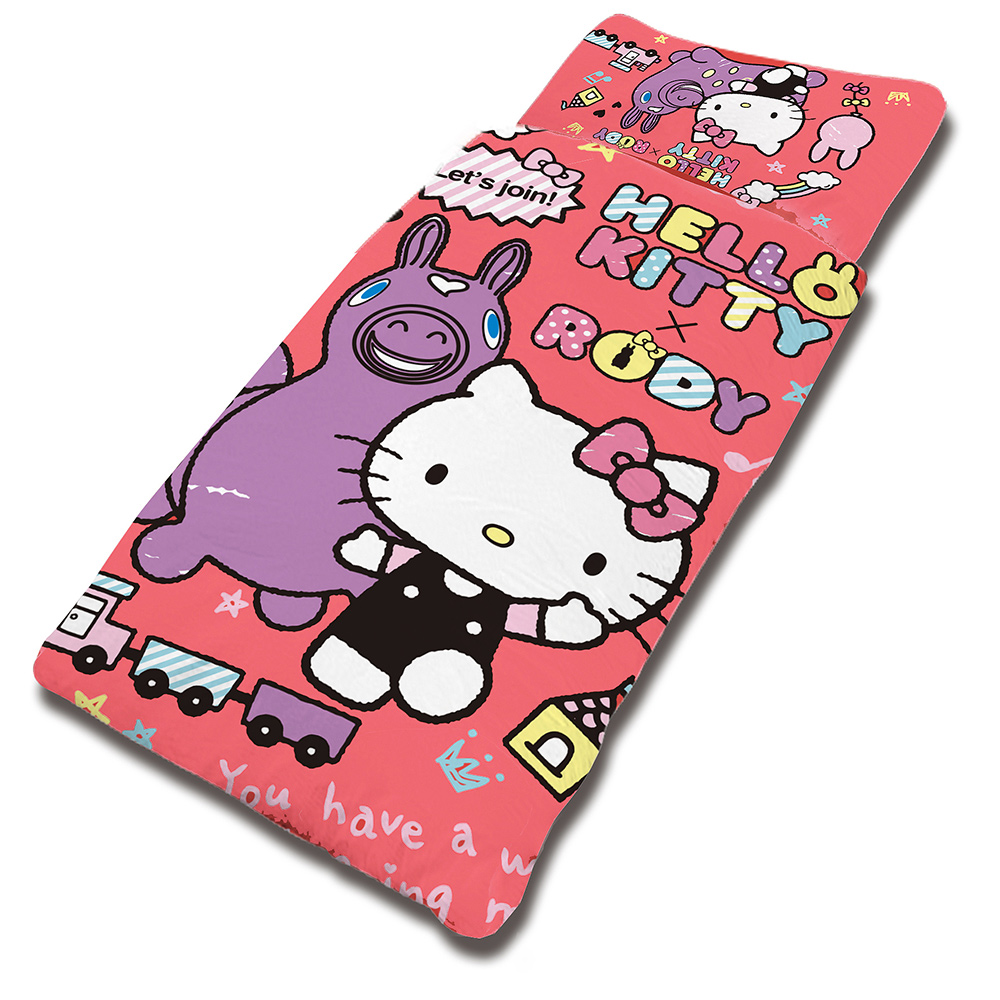 HELLO KITTY x RODY 歡樂時光系列-舖棉兩用兒童睡袋(紅)