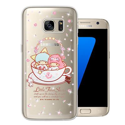 三麗鷗 雙子星仙子 Samsung Galaxy S7 水鑽系列軟式手機殼(許願...