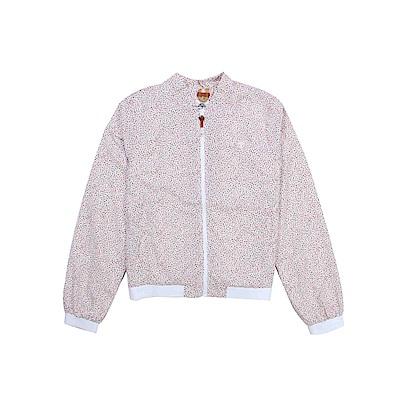 Timberland 女款粉白色印花可收納飛行外套