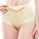 思薇爾 撩波系列M-XXL蕾絲高腰三角修飾褲(暖洋黃)