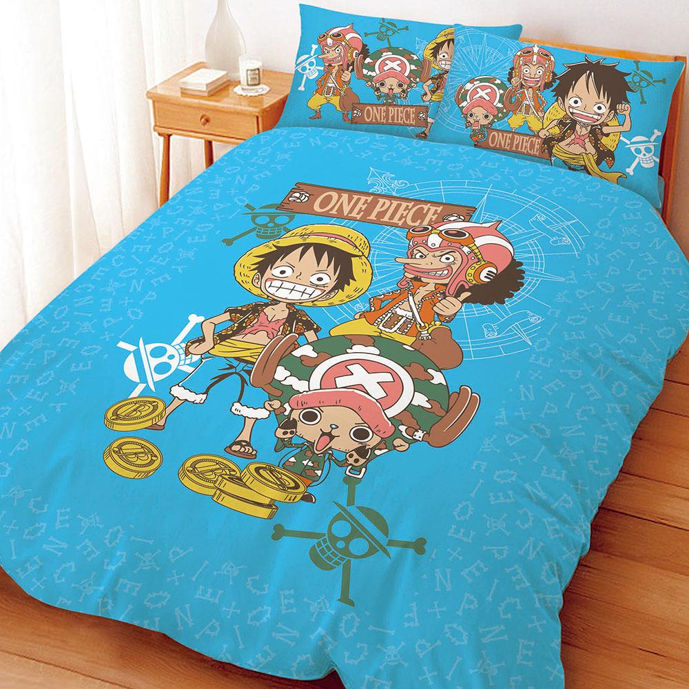航海王 尋寶之路-雙人四件式床包涼被組