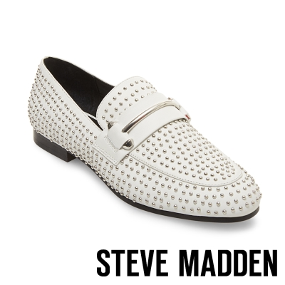 STEVE MADDEN-KAST-WHITE-鉚釘樂福鞋-白色